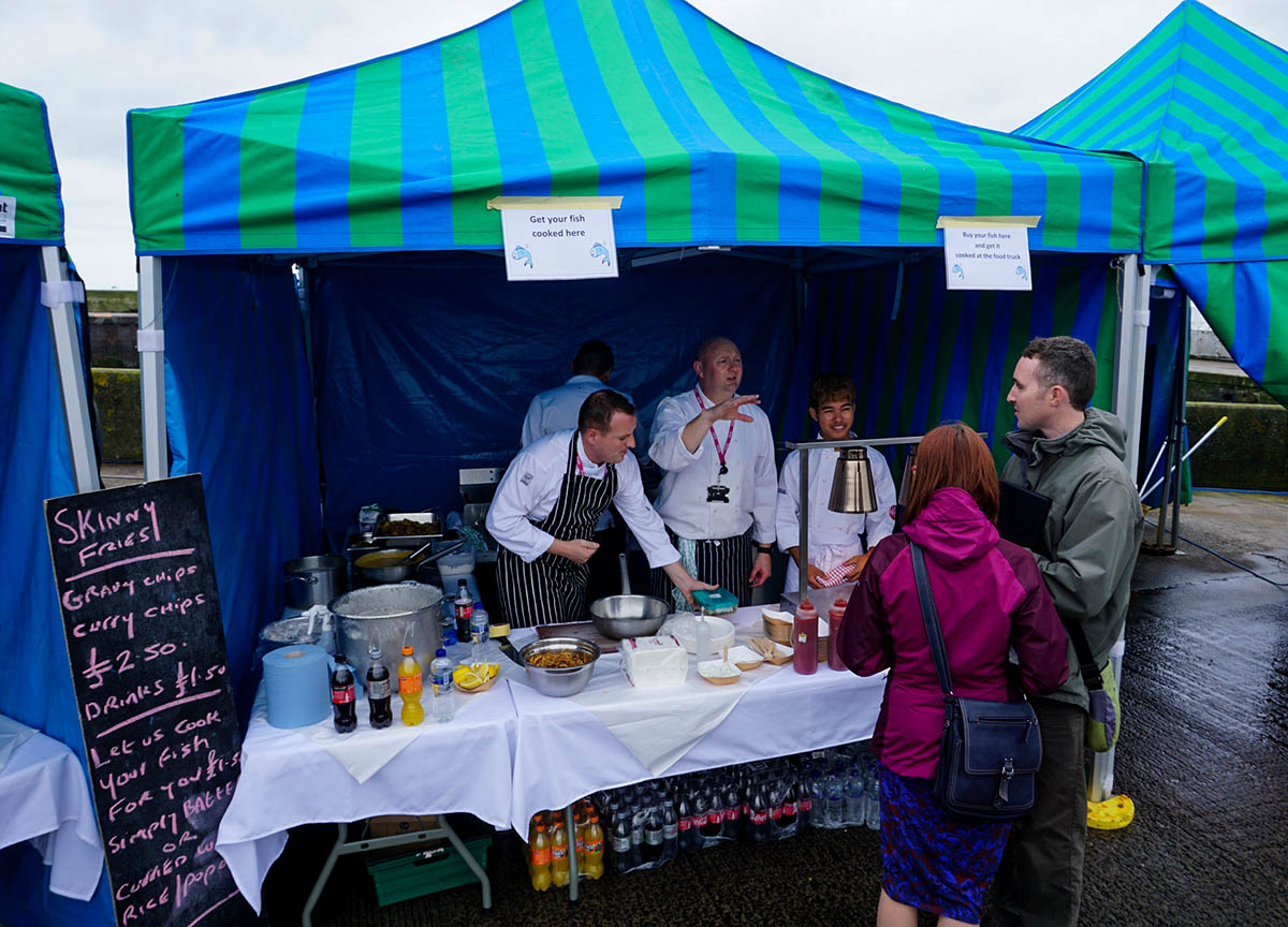Fresh Seafood at Portavogie Seafood Festival in Newtownards