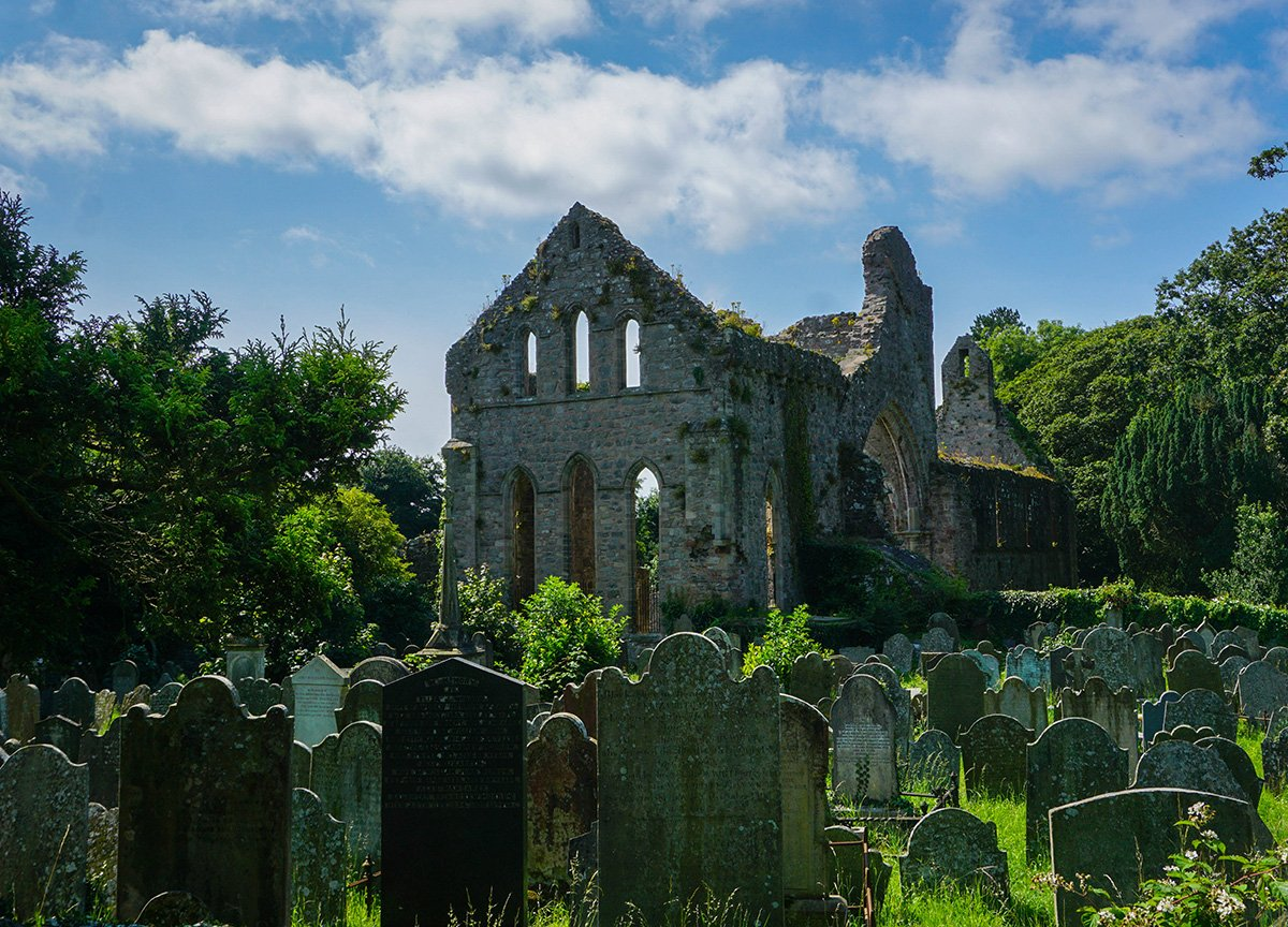 Graveyard at Grey Abbey Church in Greyabbey Northern Ireland