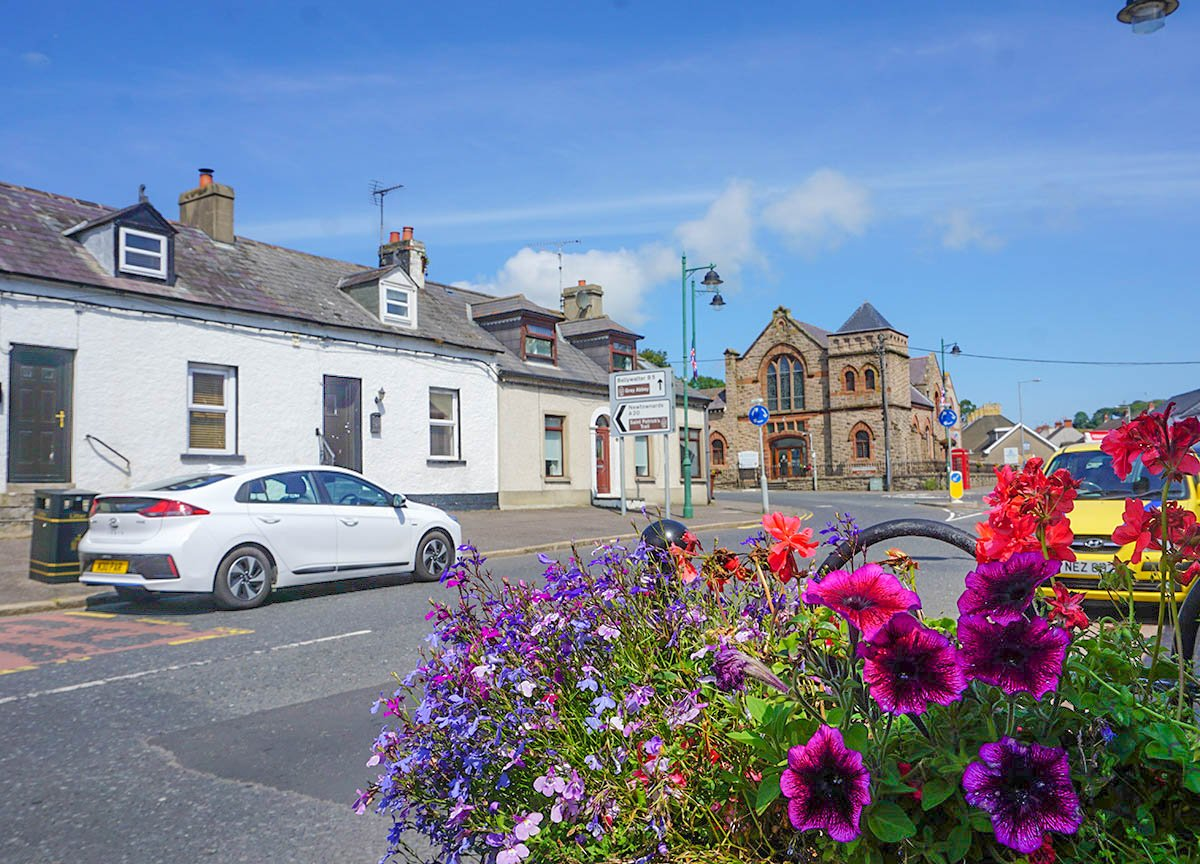 Main Street Greyabbey on the Ards Peninsula Strangford Lough