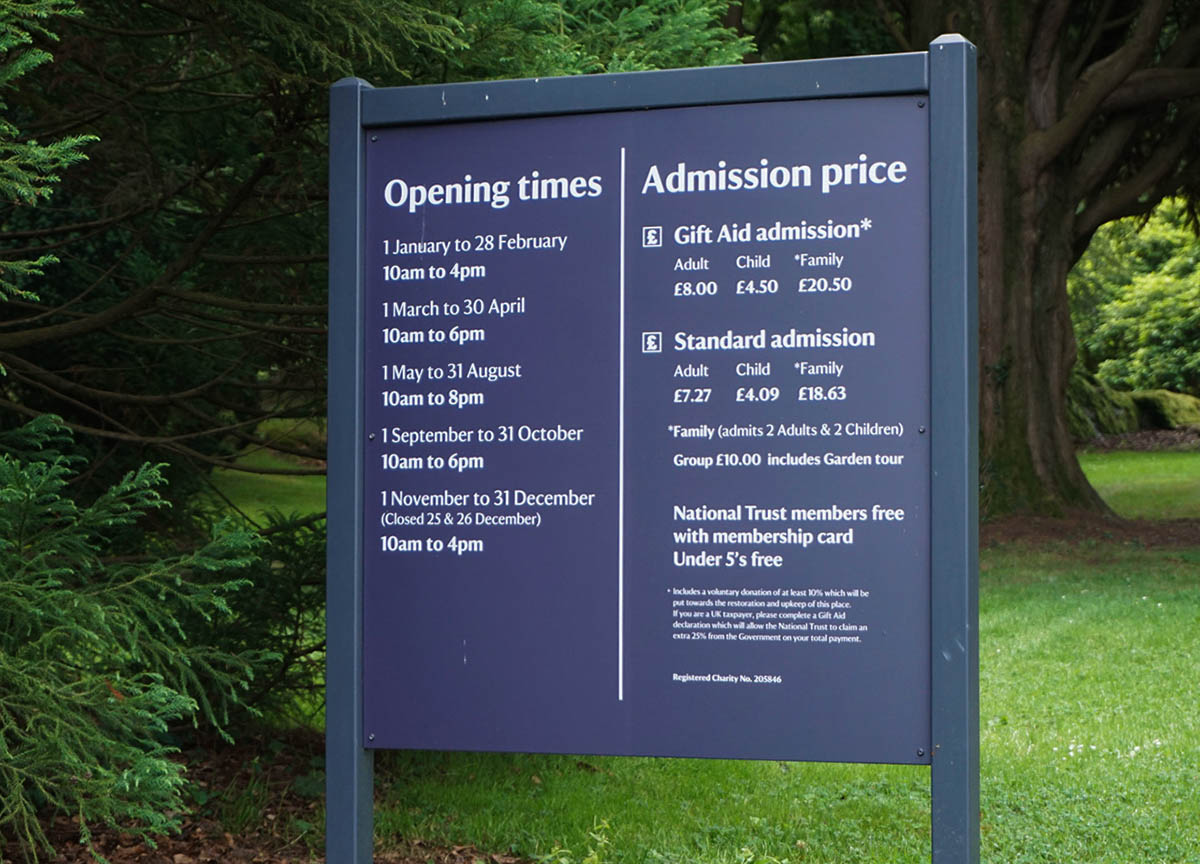 Times and Prices at Rowallane Gardens Ballynahinch Northern Ireland