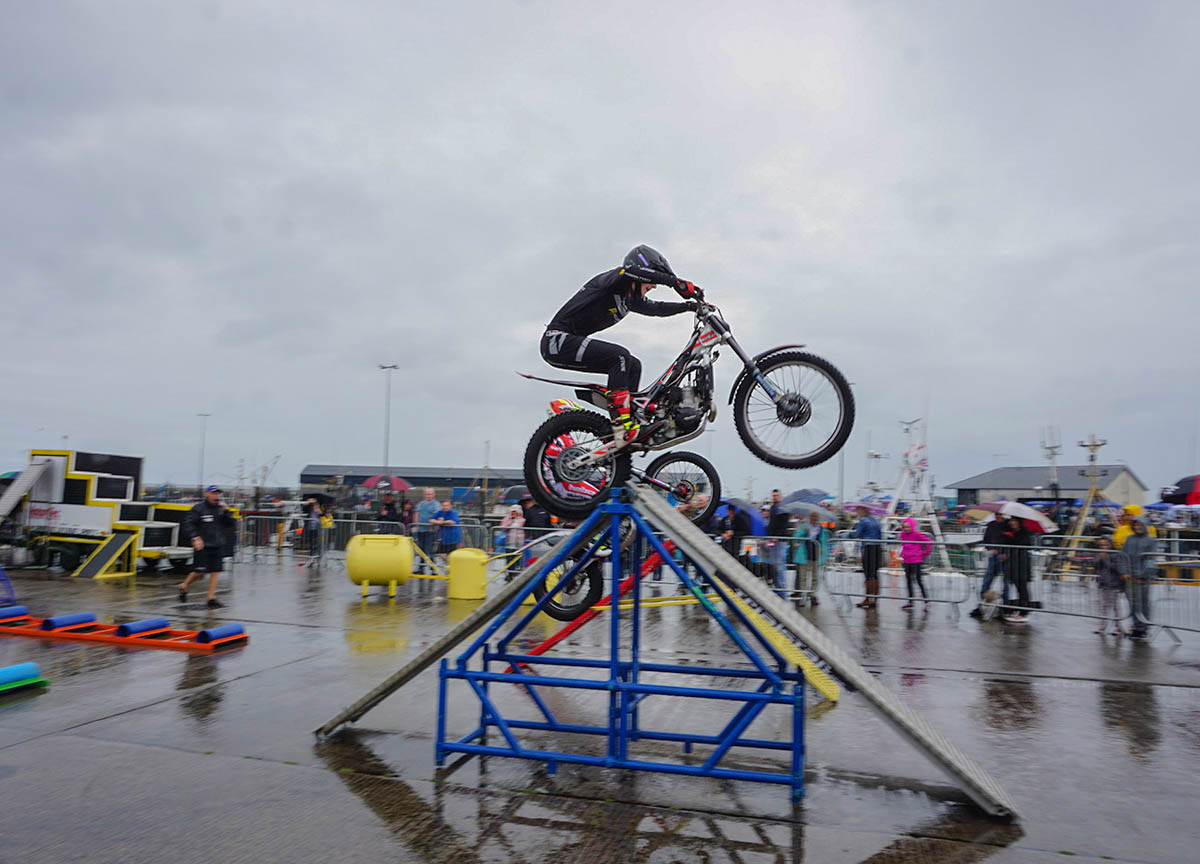 Trials Motorbike Show at the Portavogie Seafood Festival
