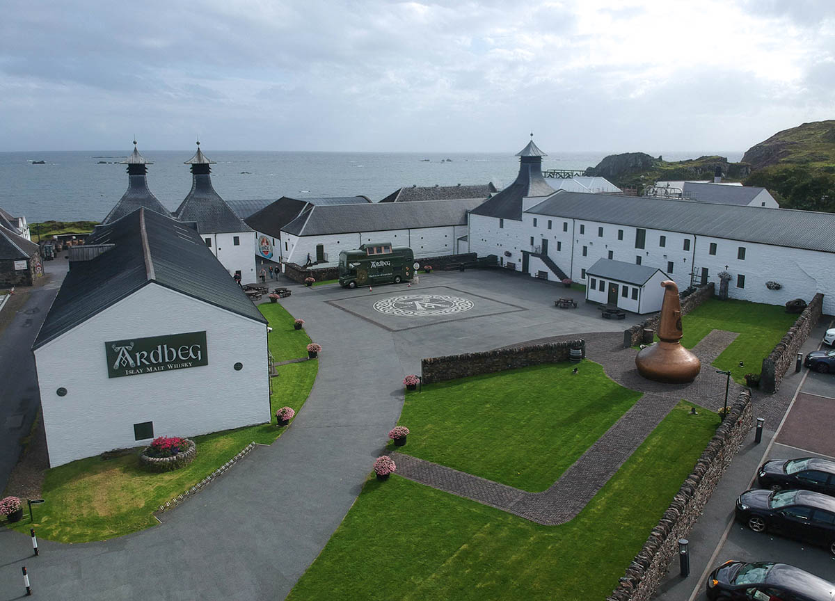 Ardbeg-Distillery-on -Islay-Island. Places to Visit in Scotland