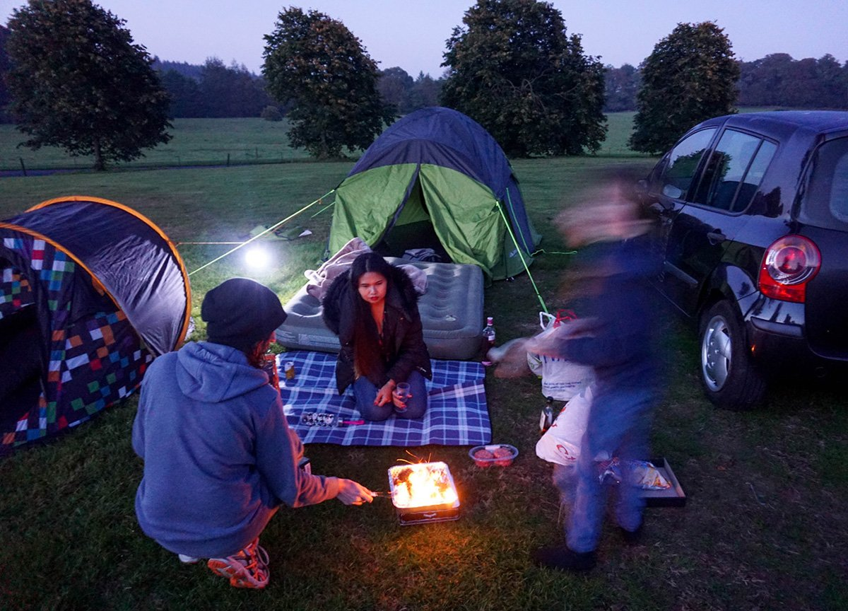 Camping and Barbecueing at Castlewellan Forest Park in Northern Ireland