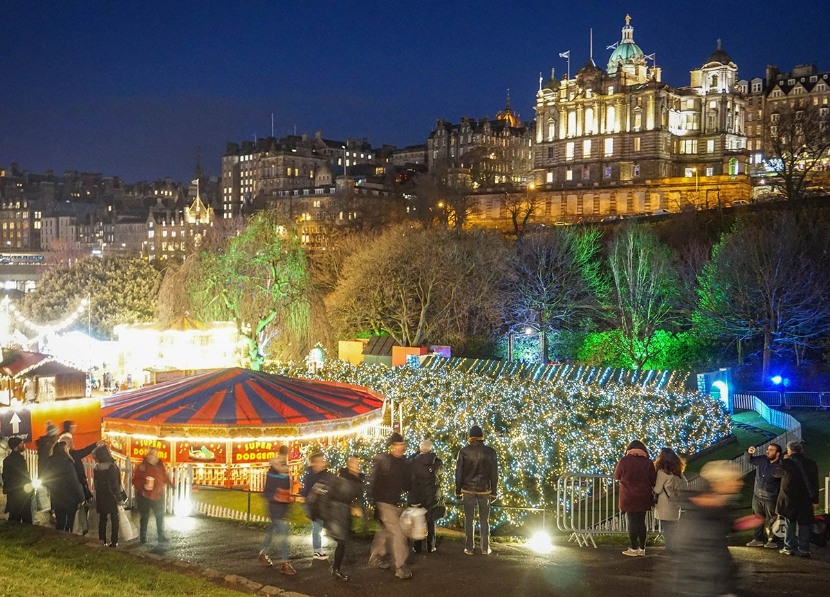 Christmas Market in central Edinburgh Places to Visit in Scotland Winter