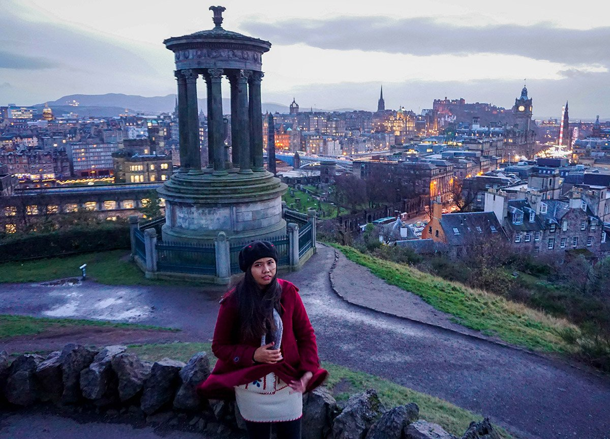 Sunset Views from Calton Hill and Edinburghs Shame Places to Visit in Scotland