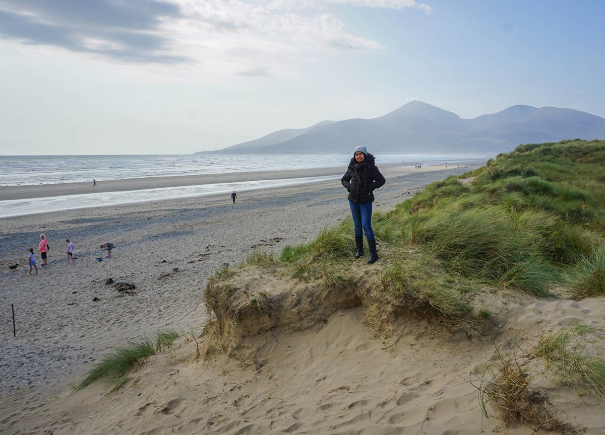 national trust nature reserve murlough beach in newcastle Northern Ireland (1