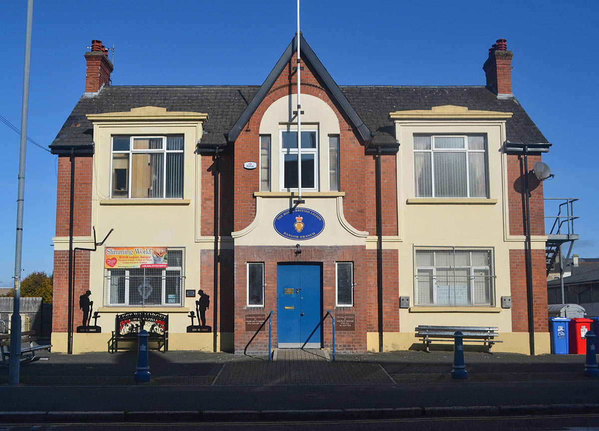 Royal British Legion Building on Hamilton Road in Bangor Northern Ireland