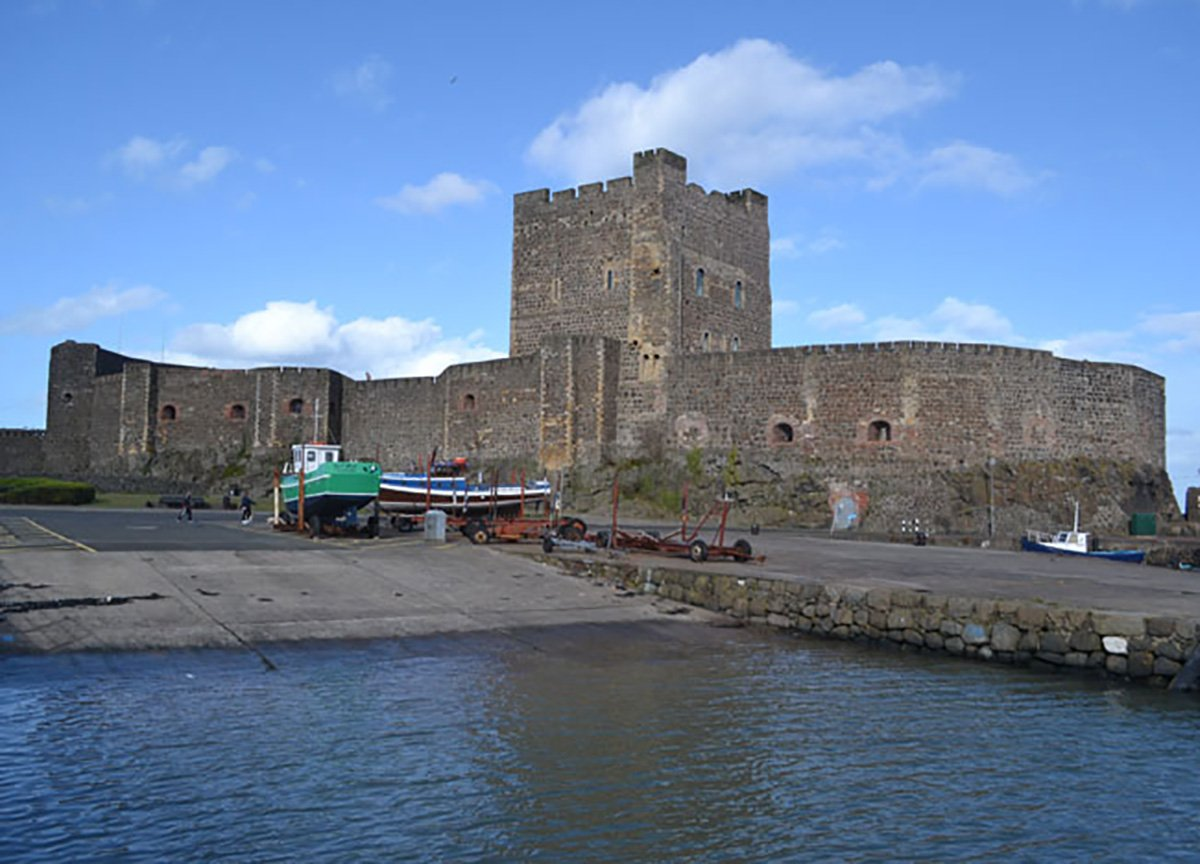 Carrickfergus Castle near Belfast in Northern Ireland UK
