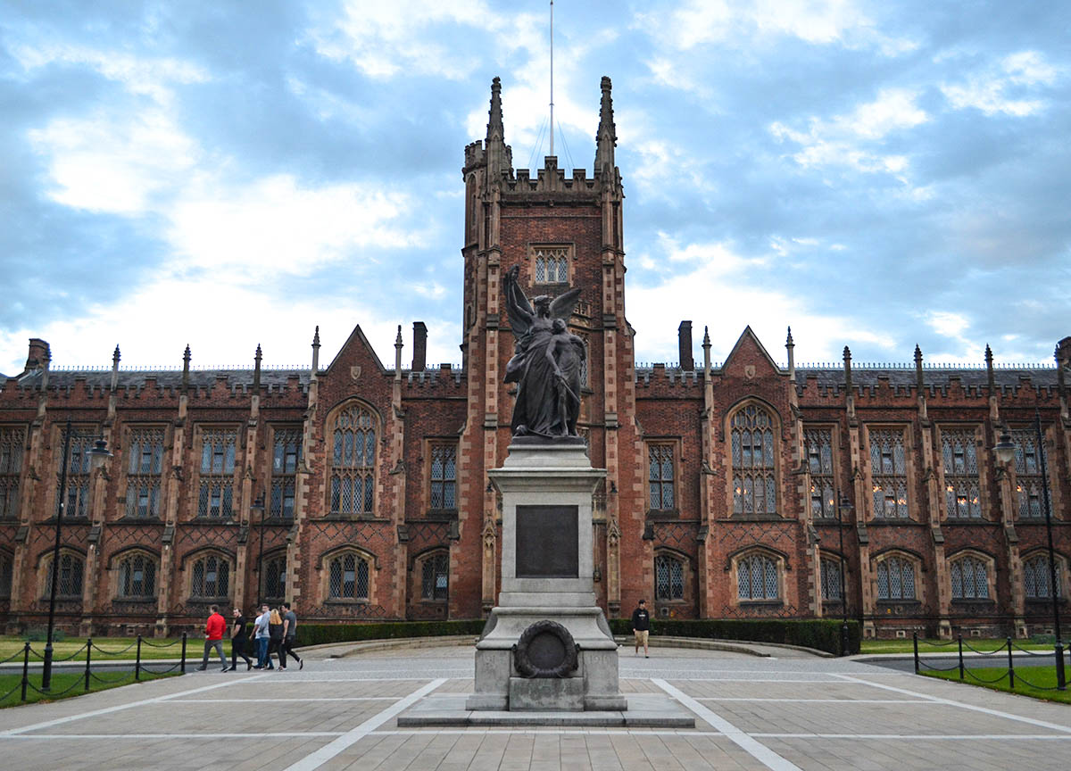 Front of Queens University in Belfast Botanic Area