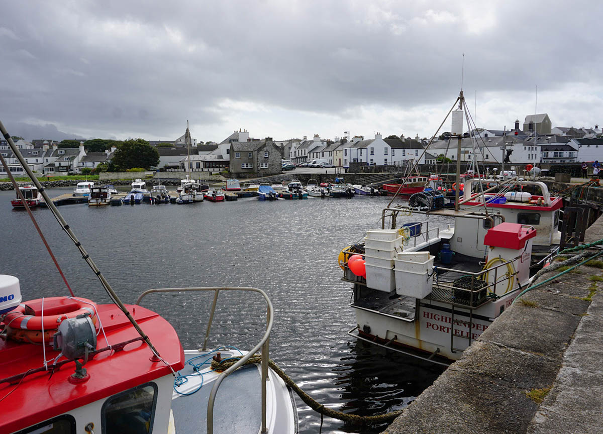 Harbour at Ardmore Island of Islay in Scotland