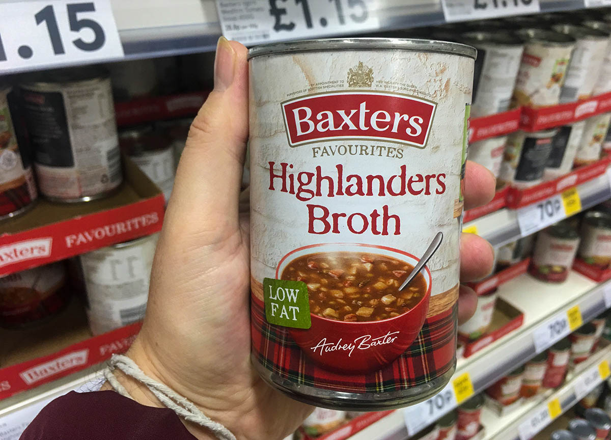 Traditional Baxters Highlanders Broth Scottish Cuisine