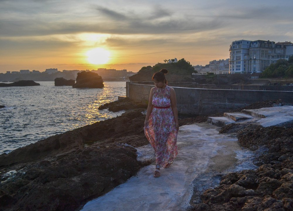 Biarritz Sunrise, Road Trip in Southern France and Borders