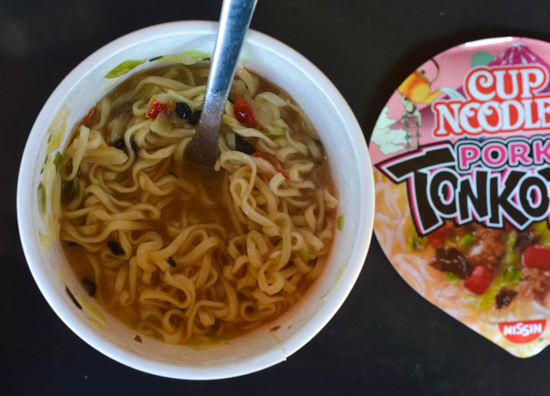 Pork Tonkotsu Ramen Cup Noodles. Britains Best Pot Noodles