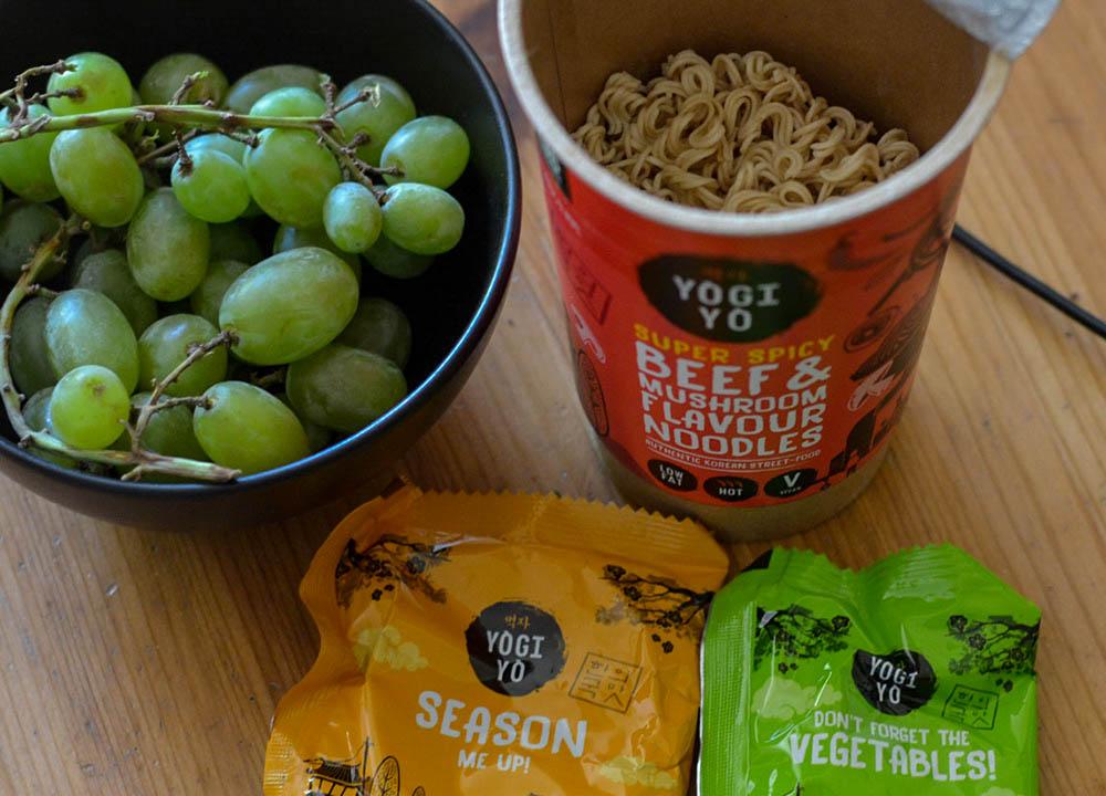Yogiyo Super Spicy Beef and Mushroom Britain's Best Noodle Pots UK