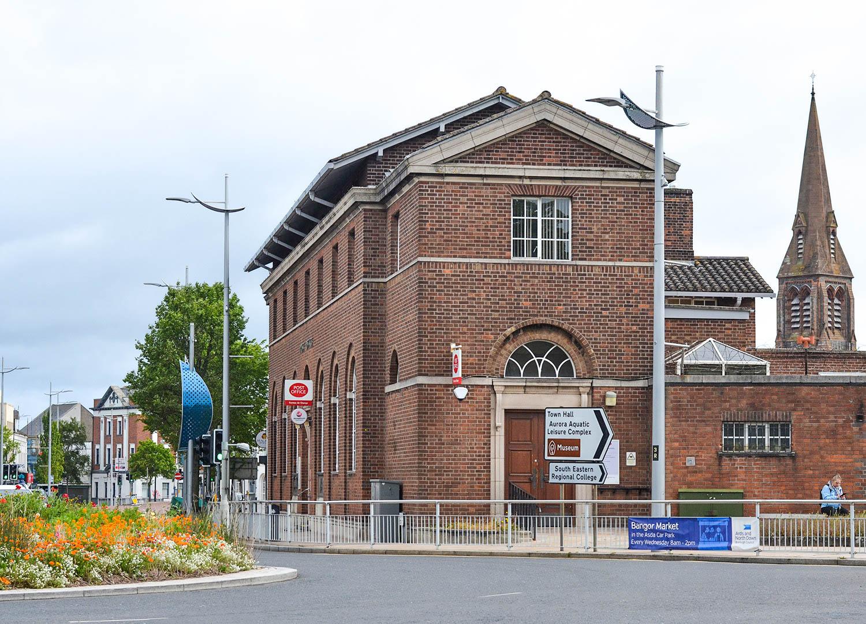 Royal Mail Post Office in Bangor Town Centre on Treasure Hunt NI