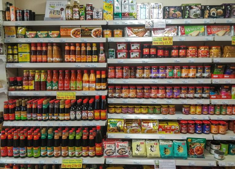 Chinese Japanese Sauces at Asian Supermarket in Bangor NI