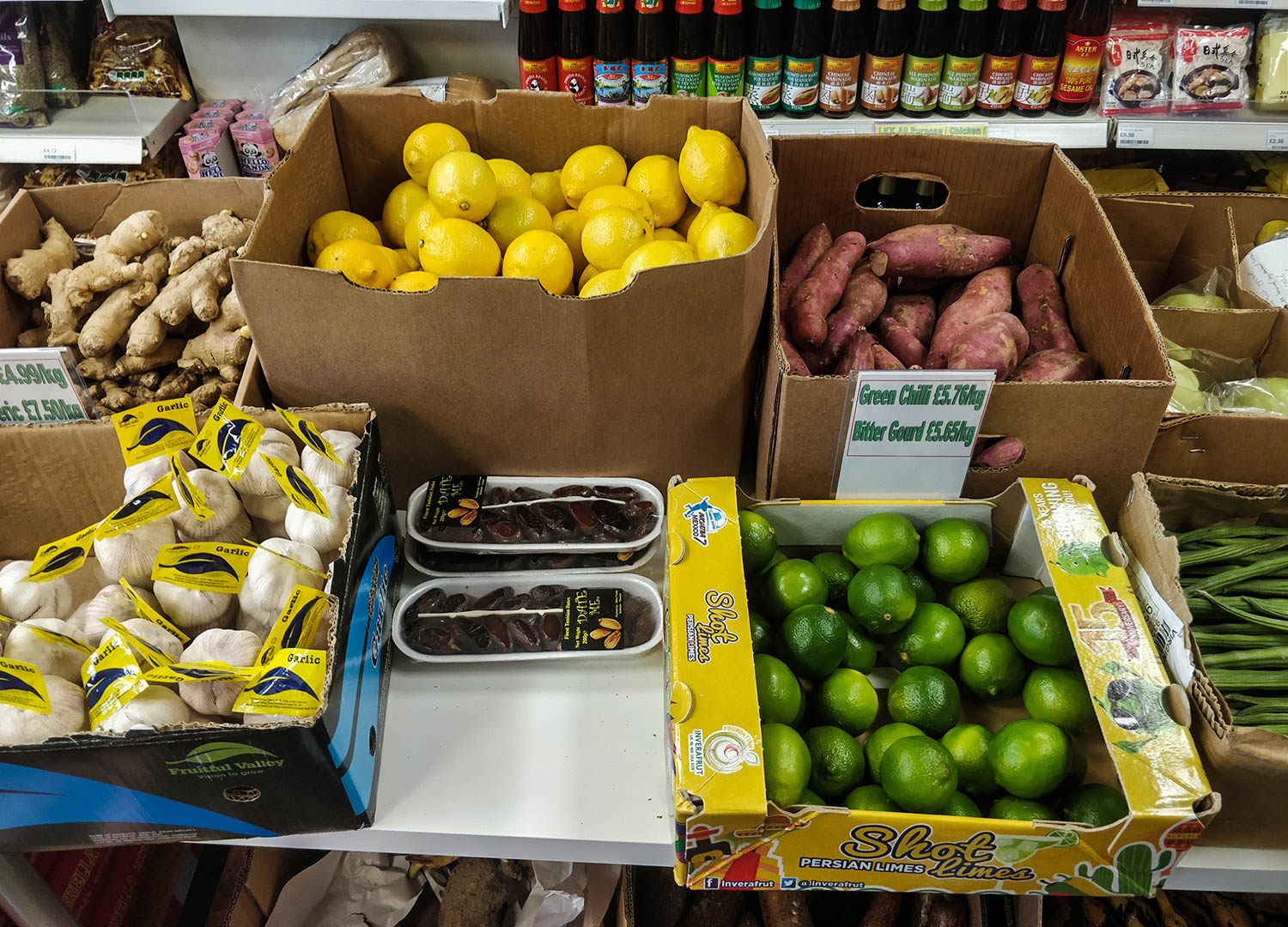 Delivery Fresh Fruit and Veg at Asian Supermarket World Foods in Bangor NI