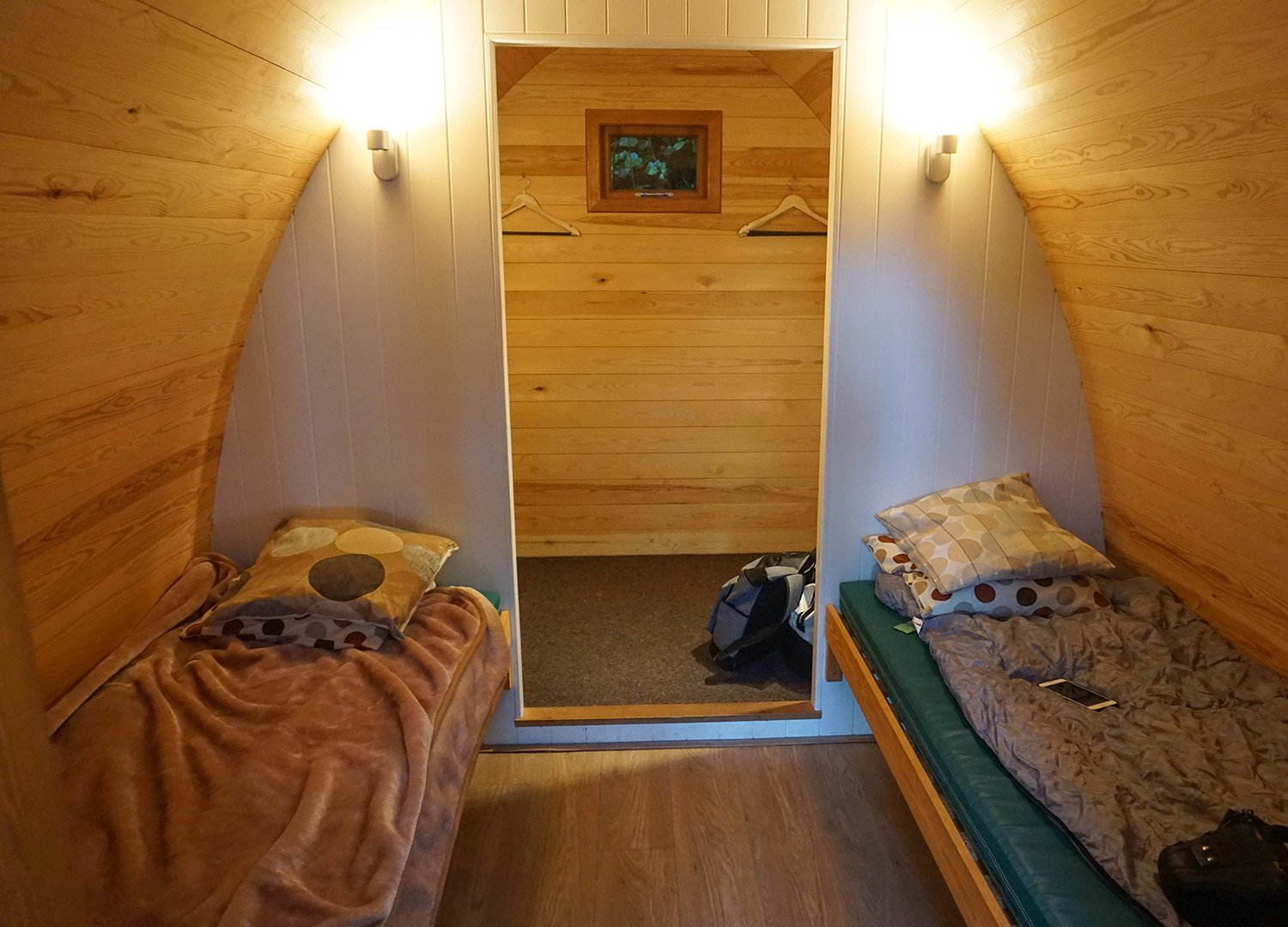 Inside Superior Glamping Pods. Castle Ward Glamping Pods Co Down NI