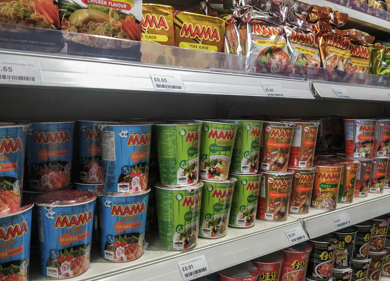 Pot Noodles and Ramen Cup Noodles World Foods Asia Supermarket in Bangor NI