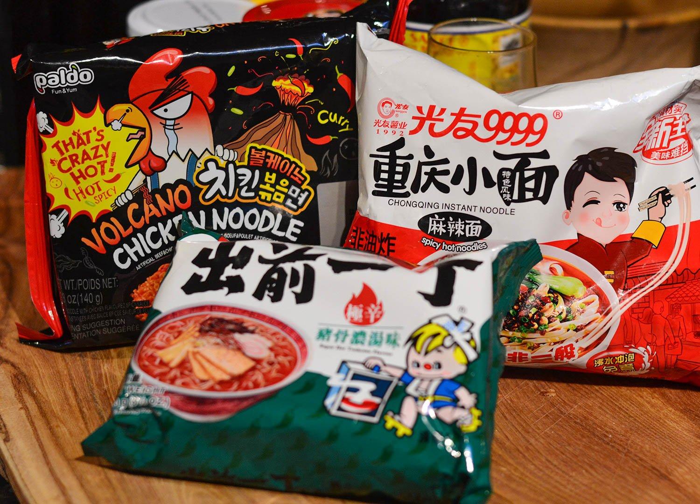 Spicy Hot Instant Ramen World Foods Asia Supermarket in Bangor NI