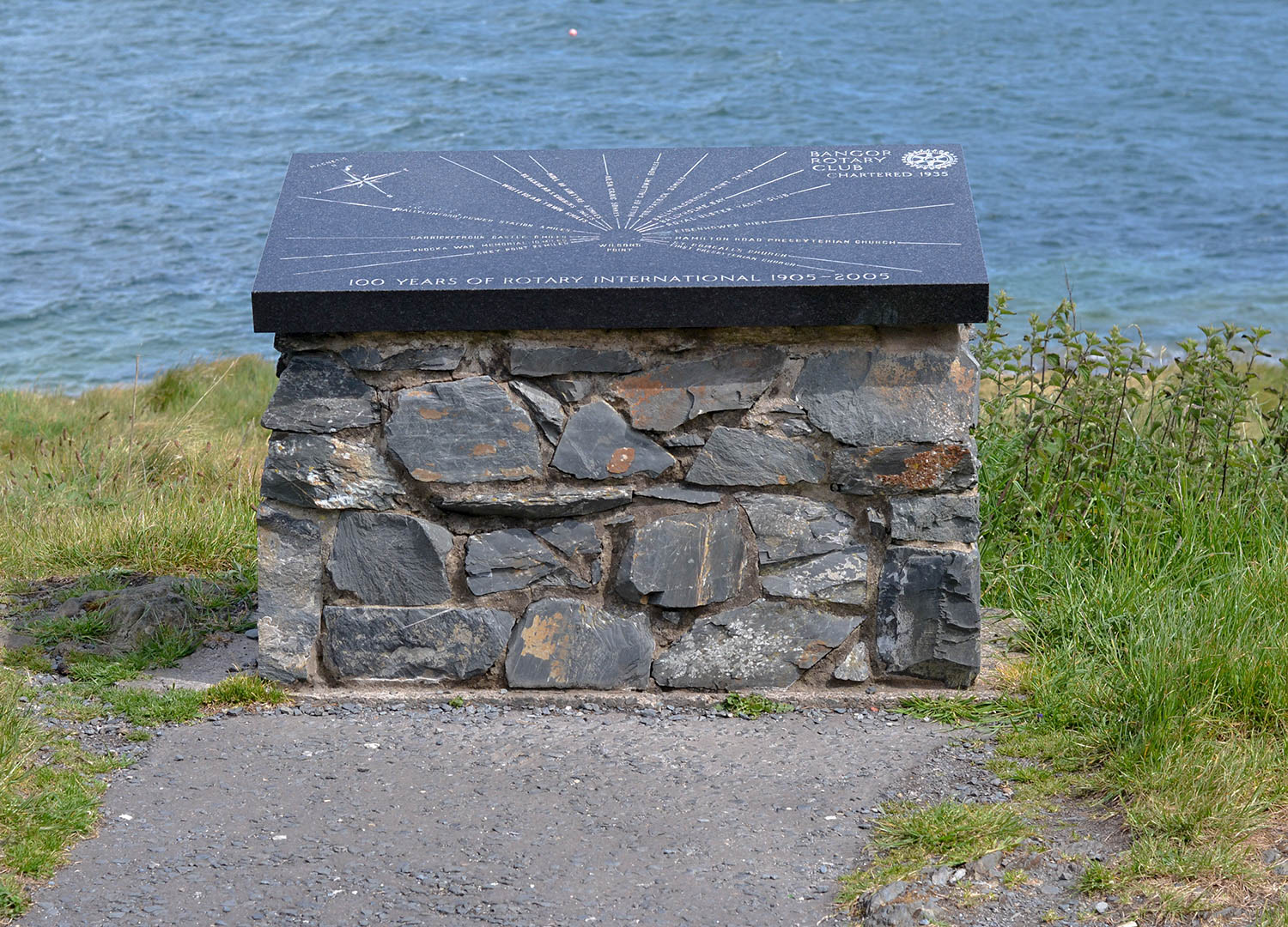 Wilson's Point Overlooking Bangor Seafront North Down Coastal Path