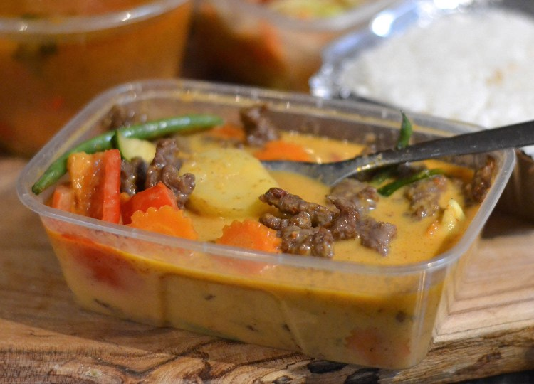 Massaman Curry fromTuk Tuk to Go Asian Bistro Bangor Restaurant Thai Food Delivery