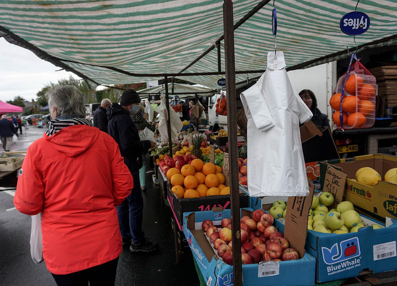 Fruit and Vegetable Stalls at Bangor Market Northern Ireland