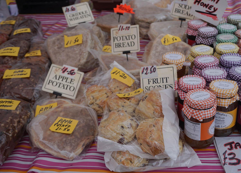 Local Buns and Bakery at Bangor Market Northern Ireland