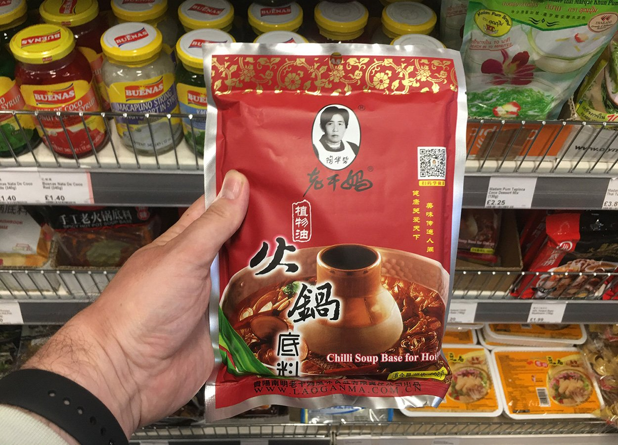 Lao Gan Ma Hot Pot Soup Base from Asia Supermarket Belfast