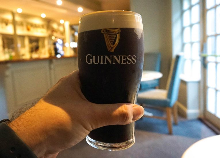 Pint of Guinness. Essential food and drink Ireland Ancient East