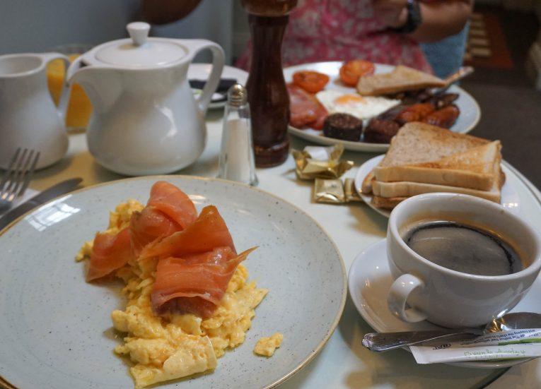 Smoked Salmon and Irish Fry for Breakfast in Ireland
