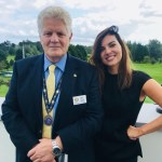 Chloe McAnirn drops in to chat with Rotarians