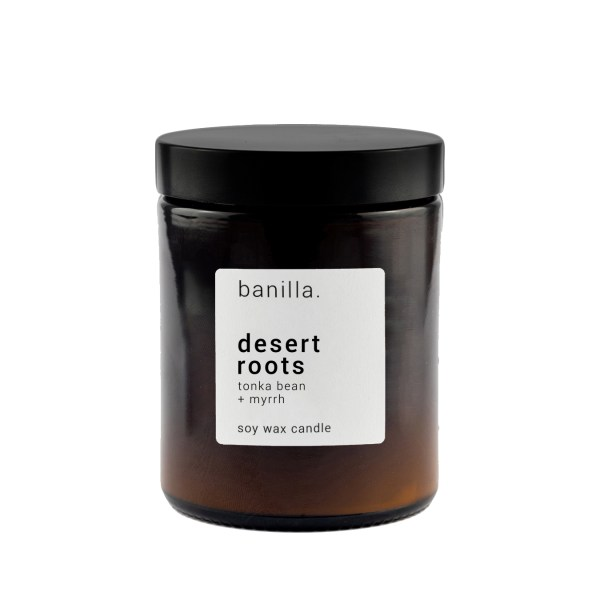 desert roots Amber candle