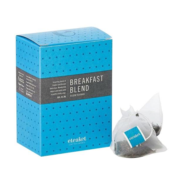 Eteaket Breakfast Tea bags with blue box