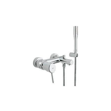 grohe concetto mitigeur monocommande pour bain douche avec set de douche euphoria cosmopolitan stick chrome