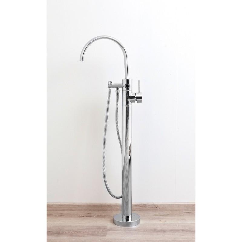banio katrine mitigeur baignoire sur pied pour baignoire ilot chrome