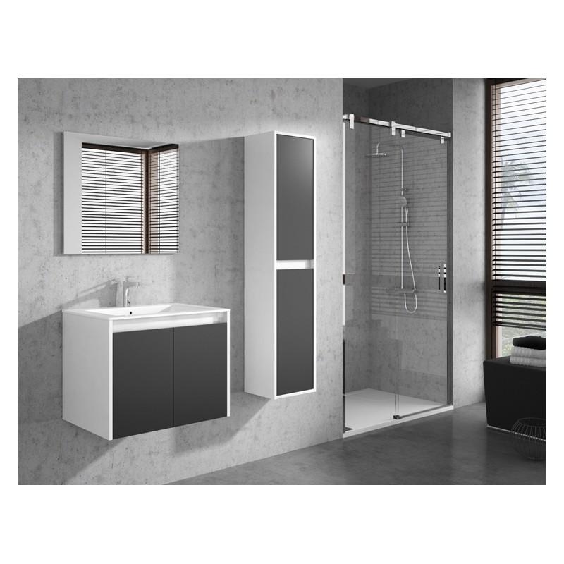 banio design felino meuble salle de bain 60 cm blanc gris