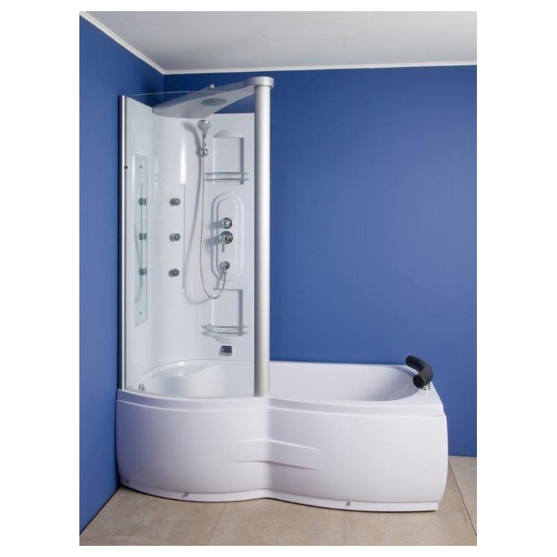 combine douche baignoire corida 170 cm coin gauche