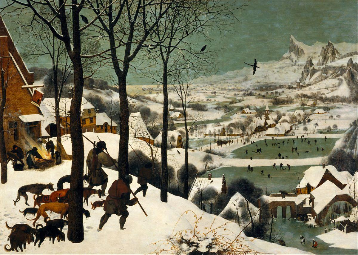 """Ловци в снега"", 1565. Питер Брьогел Стари"