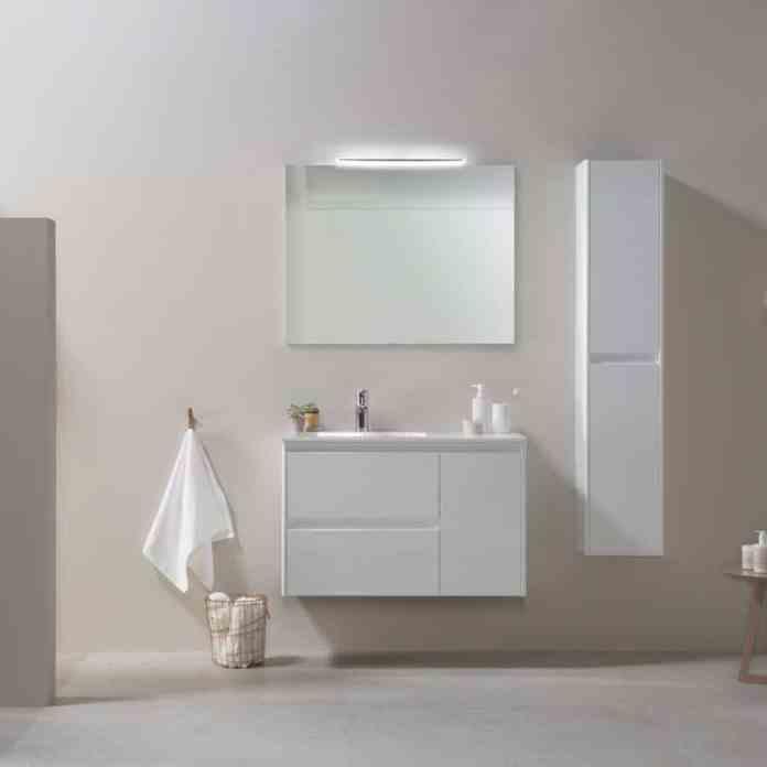 mueble de baño blanco de Lionshome