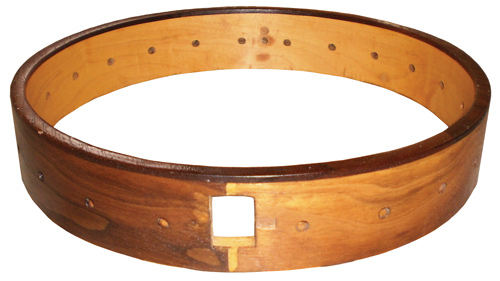This image displays a banjo rim.