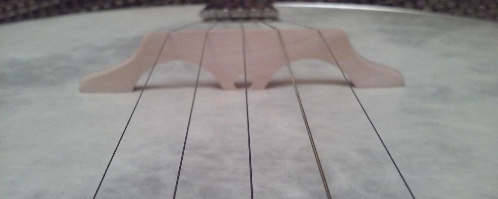 Custom banjo bridge by Mac Traynham