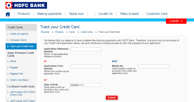 hdfc credit card statement toll free number