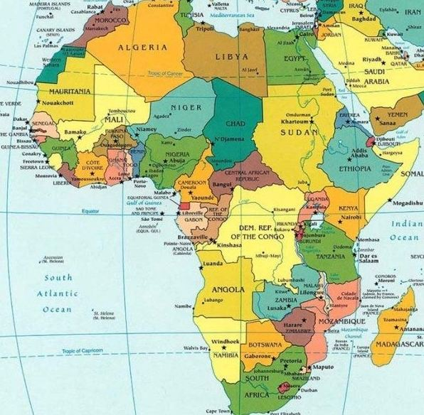 africa map and capitals African Countries Capitals And Currencies Download Pdf africa map and capitals