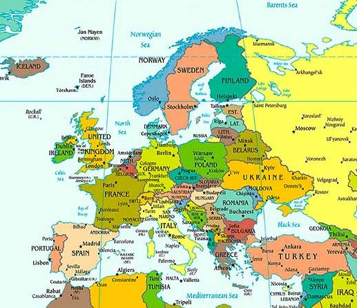 European Countries Capitals and Currencies (Download PDF ...