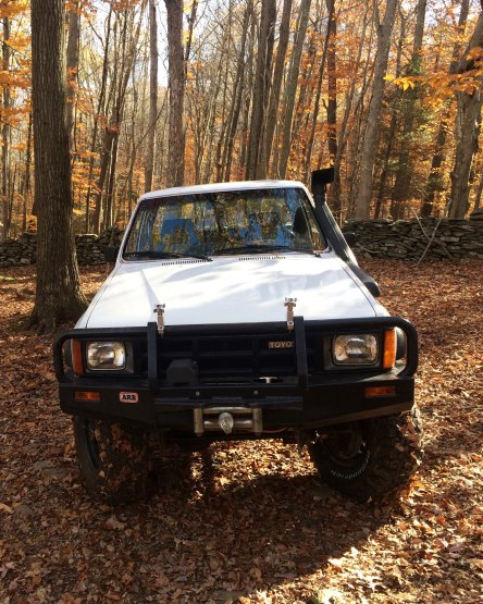 The Hilux I drove during 4x4 training in Connecticut.