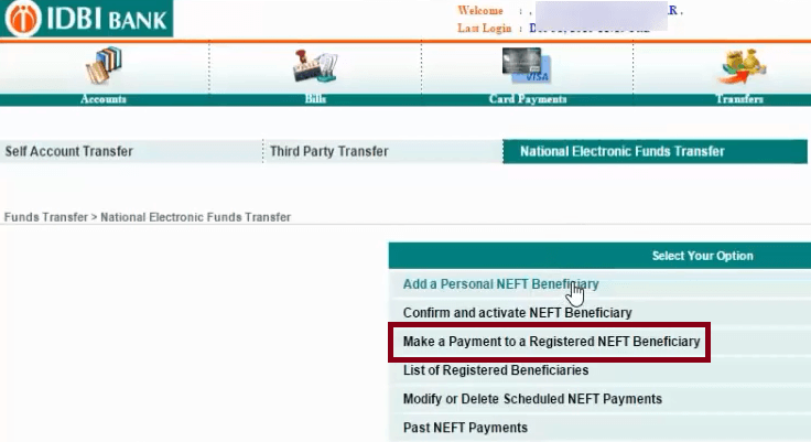 how to transfer money through pnb net banking