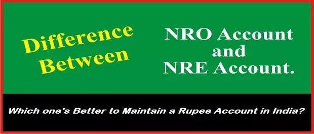 NRO Account vs NRE Account