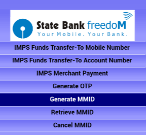 mmid in sbi freedom app