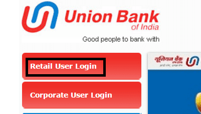 union bank of india net banking page